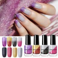 NICOLE DIARY 6ml Thermal Nail Polish Glitter Water Based Colorful Nail Varnish