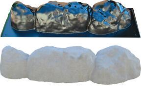 Concrete molds 2 Pieces Edge Stone Edging Border Mould ABS Plastic BR16
