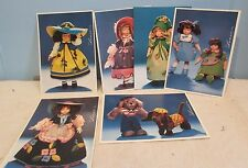 """Lot of  4"""" x 6"""" Postcards Picturing Different Lenci Dolls - New"""