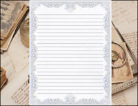 Victorian Border Design Lined Stationery Writing Set, 25 sheets & 10 envelopes