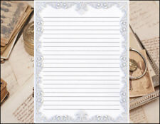 Victorian Border Design Lined Stationery Writing Set, 25 sheets & 10 envelopes