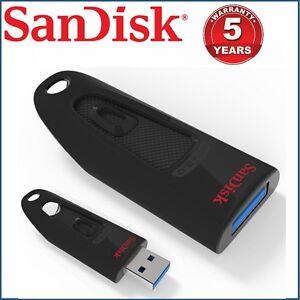 USB Flash Drive SanDisk Ultra CZ48 32GB 64GB 128GB 16G Memory Stick Pen USB 3.0