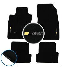 4 TAPIS SOL MOQUETTE LOGO BLANC SPECIFIQUE RENAULT CLIO 3 SPORT RS INITIALE LUXE