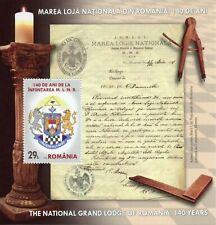 Romania Freemasons Stamps 2020 MNH Ntl Grand Lodge 140 Years Freemasonry 1v M/S