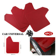 4PCS Red Car Universal Front&Rear Fender Mud Flap Mudguard Splash Guard Part Kit