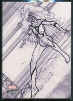 2018 Marvel Masterpieces Preliminary Art Trading Card #PA36 Spider-Woman