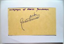 JUANTORENA ALBERTO 1976 OLYMPIC 400m & 800m GOLD MEDAL WINNER ORIGINAL AUTOGRAPH