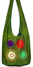 Sac Bandouliere Ethnique Sac à Main Coton Besace Ethnik Bag spirale vert green