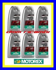 6 Litri Olio Motore 4 tempi MOTOREX Power Synt 4T 10W/50 100% Sintetico