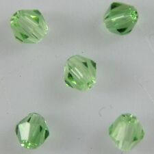100 Pcs Swaro-element 4mm Bicone Crystal beads E fruitgreen