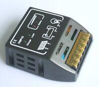 Black CMP Solar Panel Charge Controller Regulator 10A 12V 24V Auto Identify