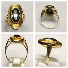 hermosa Anillo 585ER anillo dorado con TURMALINA 60 (19,1 mm Ø )