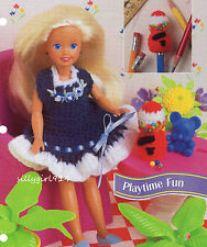 """Playtime Fun""~Crochet Pattern~For 7-1/2"" Fashion Doll"