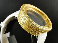 MENS 52MM TECHNO COM KC JOE RODEO SIMULATED CANARY DIAMOND WATCH 15 CT