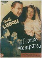 Bela Lugosi   IL CORPO SCOMPARSO   nuovo sigillato   DVD