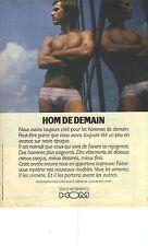 PUBLICITE ADVERTISING 1981   HOM  sous vetements slip rayés