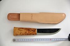 Roselli cuchillo puukko lapplandmesser-small leuku-carbono Finlandia, nuevo.