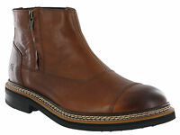 CAT Caterpillar Adner Ankle Boots Mens Leather Zip Up Casual Chelsea Shoes