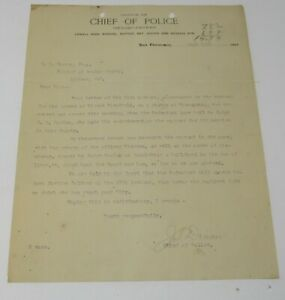 1906 Chief of Police San Francisco Arrest Warrant Earthquake Lowell High School