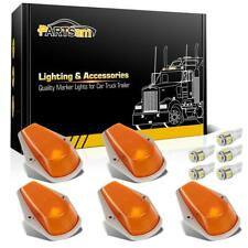 5Pcs For Ford F150 F250 F350 Running Roof Top Cab Clearance Lights Amber+194 LED