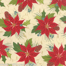 MODA Fabric ~ TOLE CHRISTMAS ~ by Gina Martin (10050 13) Parchment - by 1/2 yd