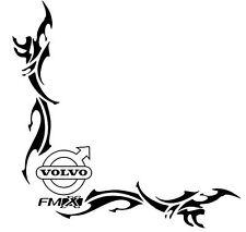 VOLVO FMX  TRIBAL Side Window Decals Stickers x 2