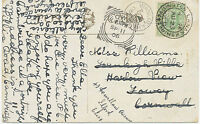"""2455 """"FOWEY"""" Squared Circle Postmark (Cohen Type II CT  – only 2 years used) pc"""