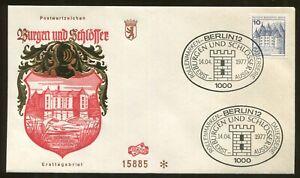 1977 Berlin Germany - Castles & Palaces - Schloss Glucksburg in Holstein FDC