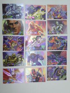 Fleer 1995 Marvel Flair Annual Powerblast Etched insert Cards PICK/MULTI LISTING