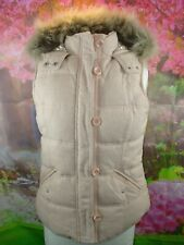 HUDSON AND ROSE LONDON PINK HOODED FULLY LINED BODY WARMER SIZE UK 12