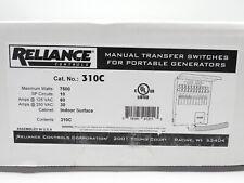New Reliance 310c Protran 2 10 Circuit Manual Transfer Switch 7500w