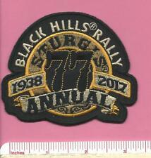 Sturgis South Dakota SD 77th Bike Motorcycle Black Hills Rally Patch 1938 - 2017
