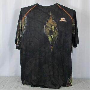 Mossy Oak Camo Shirt Mens XL Performance Short Sleeve