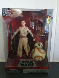 NEW Star Wars Elite Series Die Cast Rey & BB-8 Figures / Disney Store