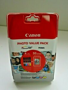Canon Photo Value Pack includes 4 Ink Cartridges & 50 Sheets Photo Paper (1013)