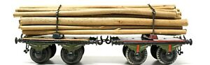 ANTIQUE BING 1-GAUGE HAND PAINTED WOOD FREIGHT 2-IN-1 CAR