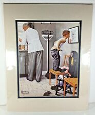 Norman Rockwell Before The Shot 8x10 Print 11x14 Matted Art America Boy Doctor