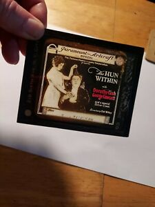 Magic lantern glass slide-The Hun Within (1918)-Lillian Gish-George Fawcett