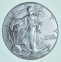 BU Unc 2003 American Silver Eagle 1 Troy Oz .999 Fine Silver