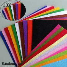 10pcs Thickness 1mm Polyester Felt Fabric Patchwork Cloth For Handmade Sewing