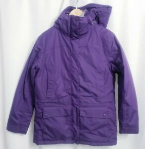 Ll Bean Heavy Purple Hooded Jacket Women's size SMALL Regular
