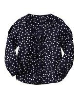 Baby GAP Girls NEW Size 2T, 4T Blue White Stars Top Shirt Blouse