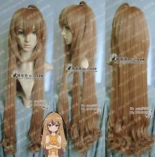 New 100cm Long Brown TIGERXDRAGON Aisaka Taiga Cosplay wig +wigs cap