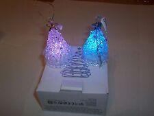 Avon Set of Light Up Natale Decorazioni Finestra x 2 ALBERO & DECORAZIONI x 2 in Scatola