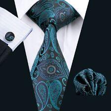 SN-468 Men's Jacquard Woven Silk Neckties Tie+Hanky+Cufflinks Sets Free Postage