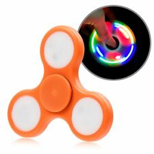 Orange LED Light Fidget Tri-Spinner Focus Toys Finger for Kids/Adults DT3