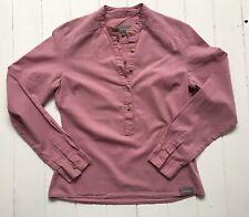 Berghaus Ladies Shirt | Size 8 | 100% Cotton | Dusty Pink | Mandarin Collar