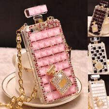 For Samsung Note20 S20 S10 S9 S8 Bling Sparkle Diamond Perfume Bottle Case Cover