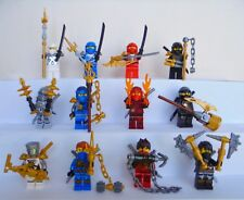12x Lego Ninjago Figuren Jay Kai Cole Zane Maske Waffen Helm Haare Figur Neu