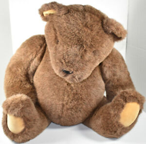 """Vintage GUND LARGE Huge 27"""" BROWN JOINTED TEDDY BEAR Stuffed Plush SOFT TOY"""